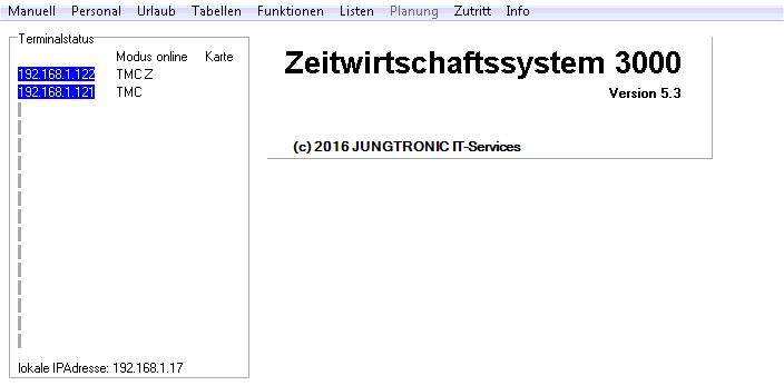 Das Zeitwirtschaftssystem ZWS3000