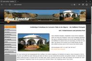 Homepage von der Ferienvilla Casa Concha